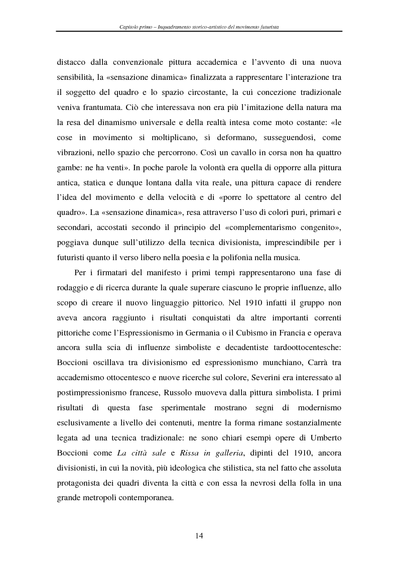 Anteprima della tesi: Esperienze futuriste tra Parma e Piacenza, Pagina 9