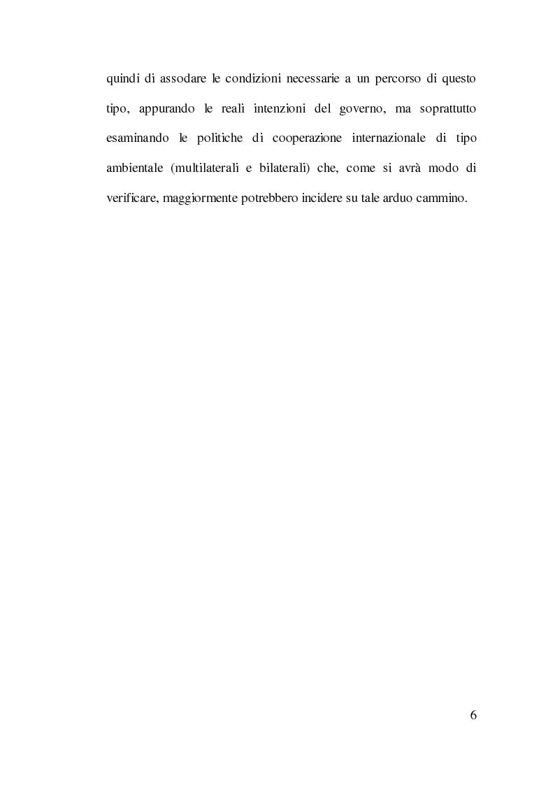 Anteprima della tesi: Cooperazione Internazionale allo Sviluppo e Tutela Ambientale: Il Caso Cinese, Pagina 5