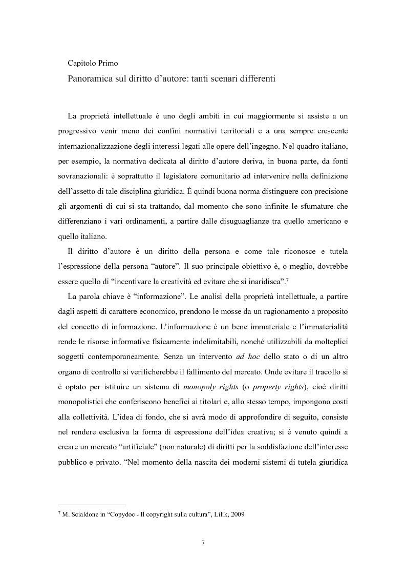 Anteprima della tesi: Il ''fair use'': l'utilizzo equo nella fruizione delle opere dell'ingegno, Pagina 2