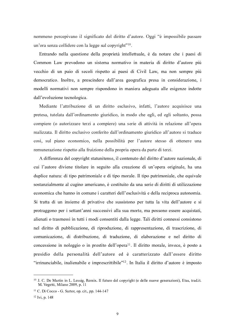 Anteprima della tesi: Il ''fair use'': l'utilizzo equo nella fruizione delle opere dell'ingegno, Pagina 4