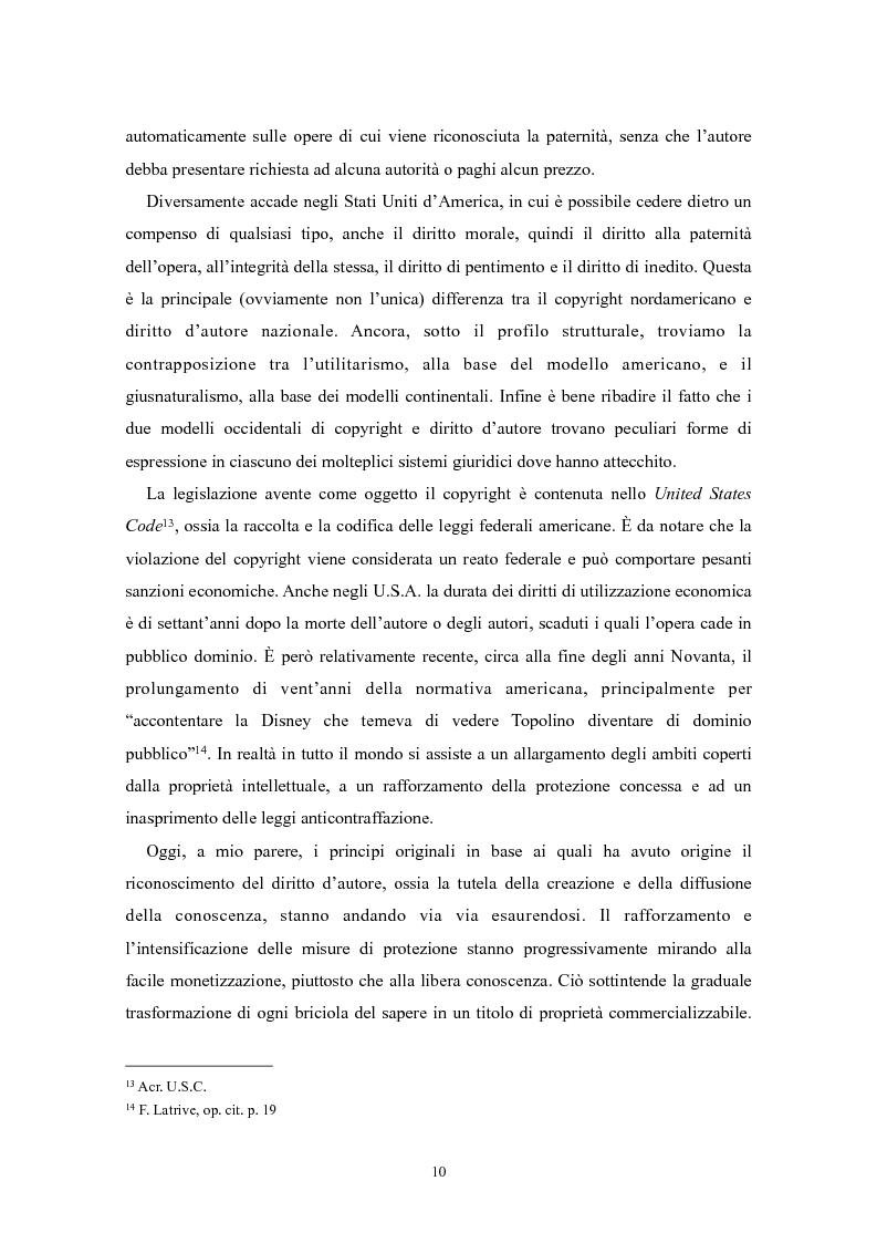 Anteprima della tesi: Il ''fair use'': l'utilizzo equo nella fruizione delle opere dell'ingegno, Pagina 5