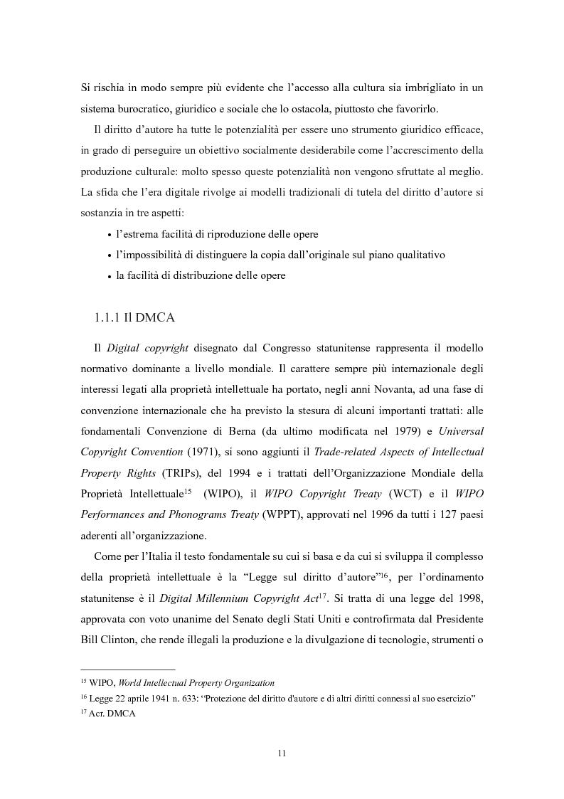 Anteprima della tesi: Il ''fair use'': l'utilizzo equo nella fruizione delle opere dell'ingegno, Pagina 6