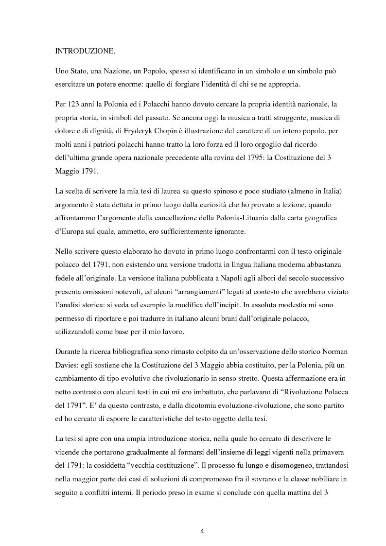 La Costituzione del 3 maggio 1791. Evoluzione e rivoluzione in Polonia alla fine del XVIII secolo. - Tesi di Laurea