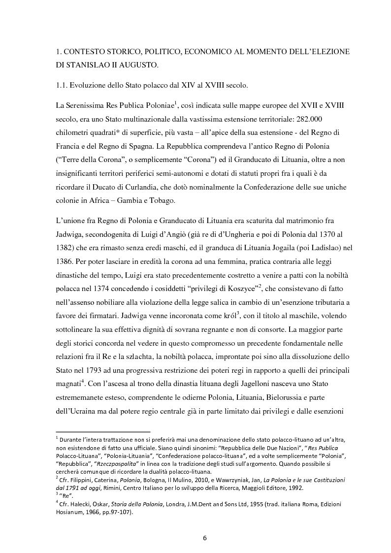 Anteprima della tesi: La Costituzione del 3 maggio 1791. Evoluzione e rivoluzione in Polonia alla fine del XVIII secolo., Pagina 4