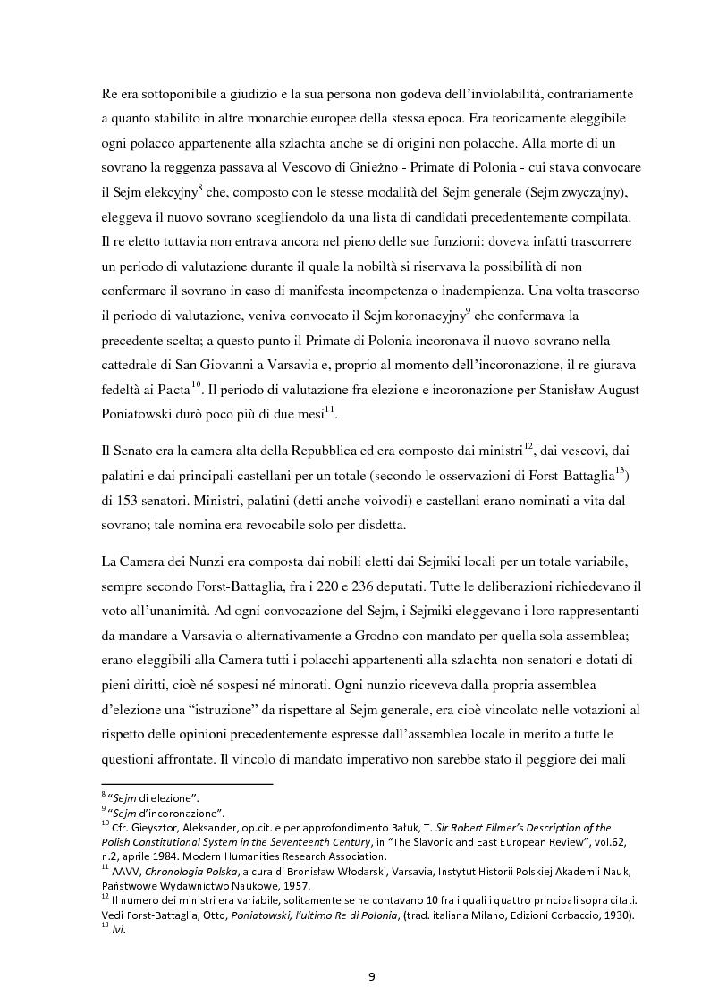Anteprima della tesi: La Costituzione del 3 maggio 1791. Evoluzione e rivoluzione in Polonia alla fine del XVIII secolo., Pagina 7