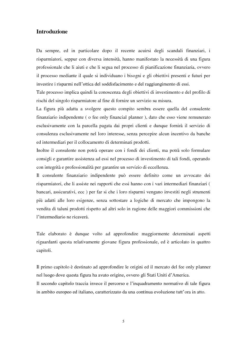 Anteprima della tesi: La consulenza finanziaria indipendente: storia, evoluzione normativa, prospettive future, Pagina 2