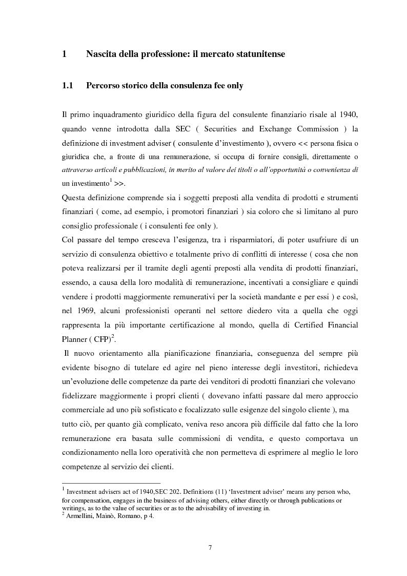 Anteprima della tesi: La consulenza finanziaria indipendente: storia, evoluzione normativa, prospettive future, Pagina 4