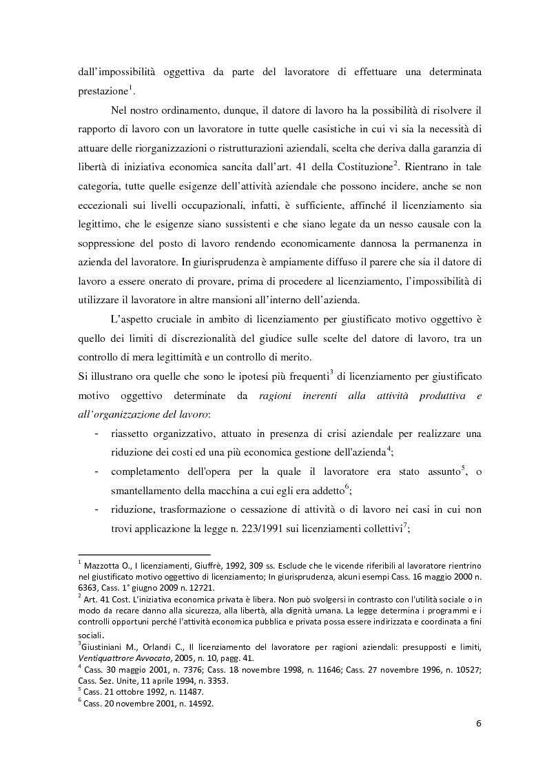 Anteprima della tesi: L'analisi di bilancio come strumento di valutazione del licenziamento per giustificato motivo oggettivo: un caso operativo, Pagina 5