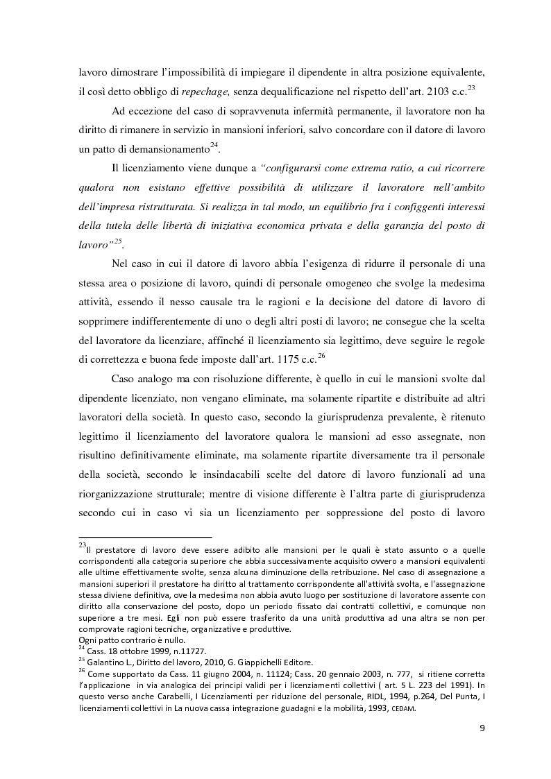 Anteprima della tesi: L'analisi di bilancio come strumento di valutazione del licenziamento per giustificato motivo oggettivo: un caso operativo, Pagina 8
