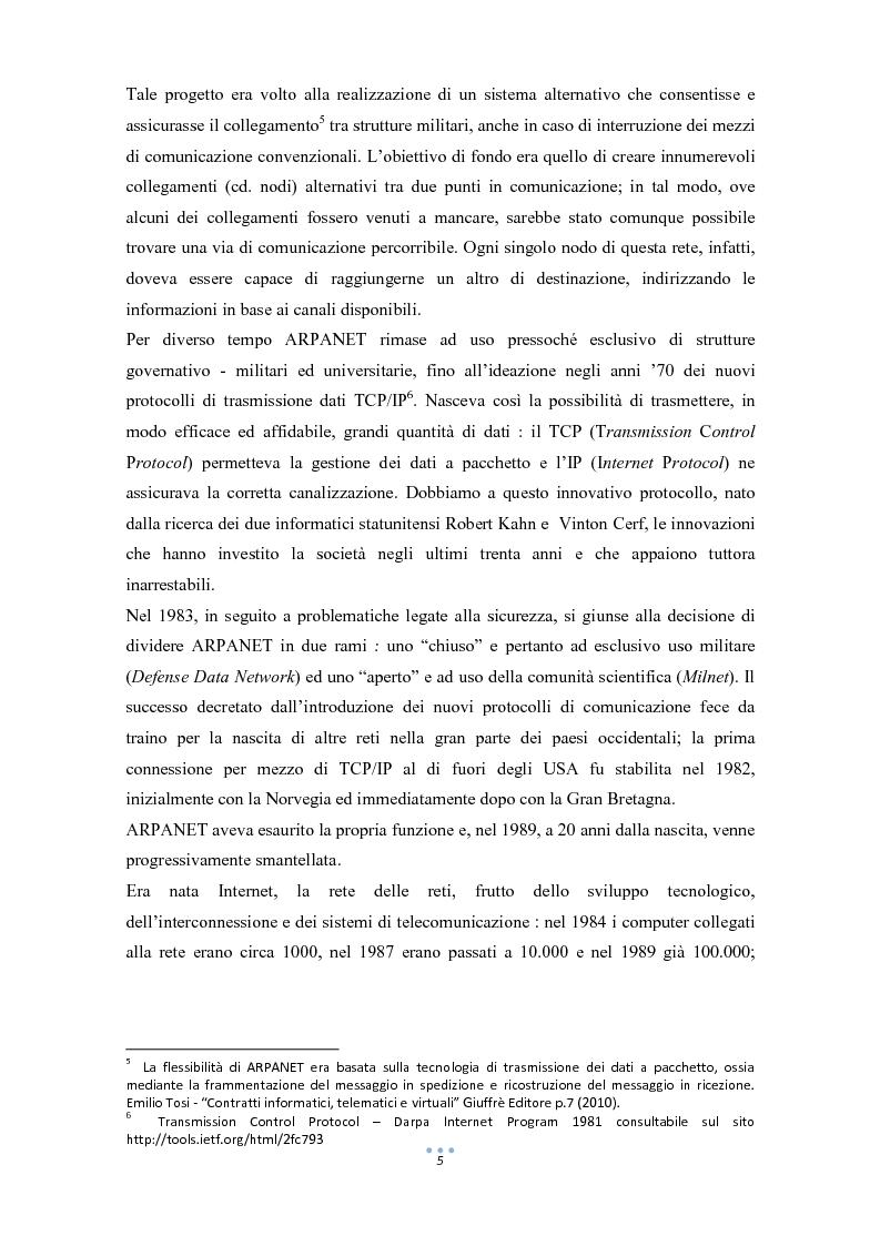 Anteprima della tesi: E-Commerce: tra nuove tecnologie informatiche e nuove opportunità commerciali, Pagina 6