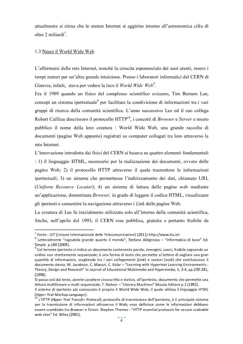 Anteprima della tesi: E-Commerce: tra nuove tecnologie informatiche e nuove opportunità commerciali, Pagina 7
