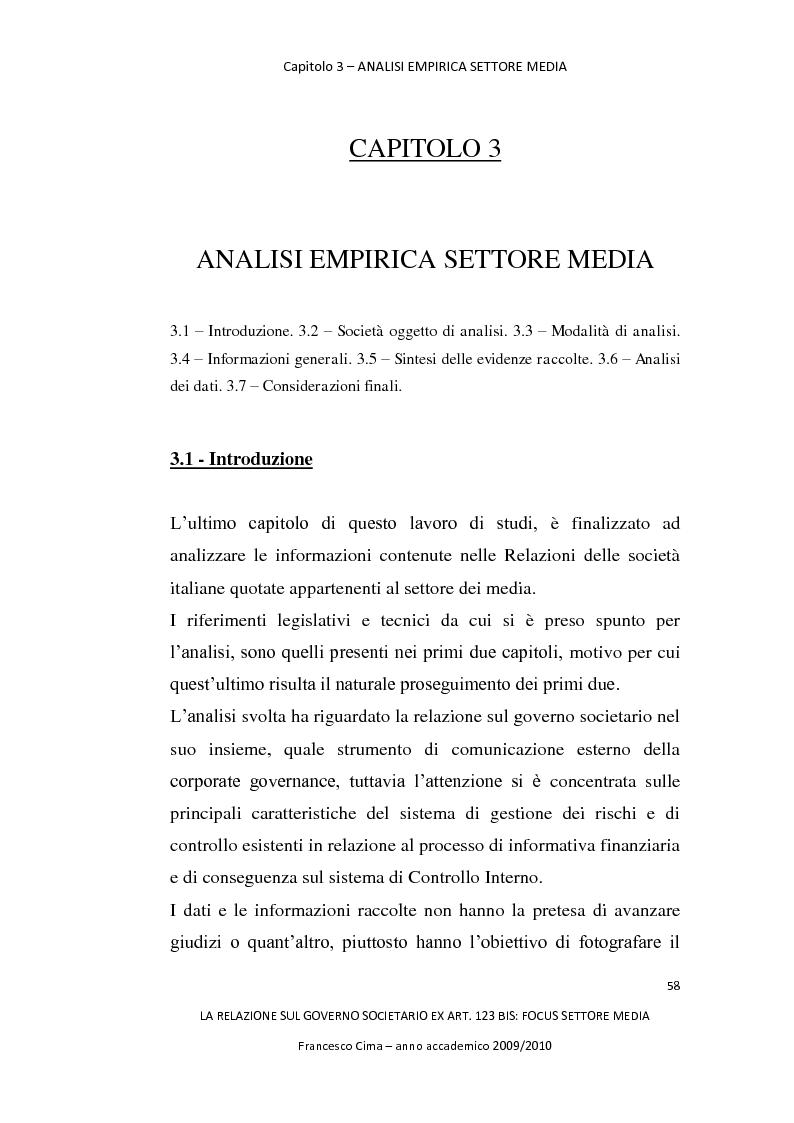 Anteprima della tesi: La relazione sul governo societario ex. art. 123-bis: focus settore media, Pagina 2
