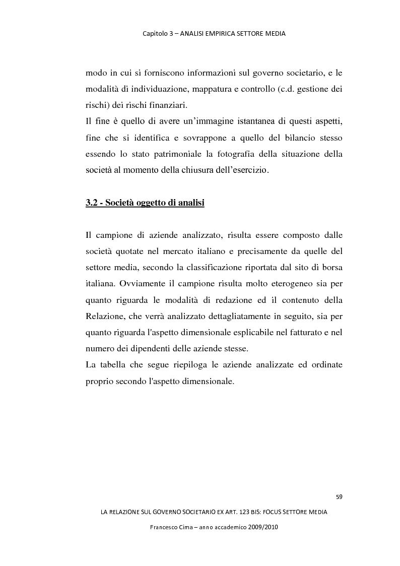 Anteprima della tesi: La relazione sul governo societario ex. art. 123-bis: focus settore media, Pagina 3