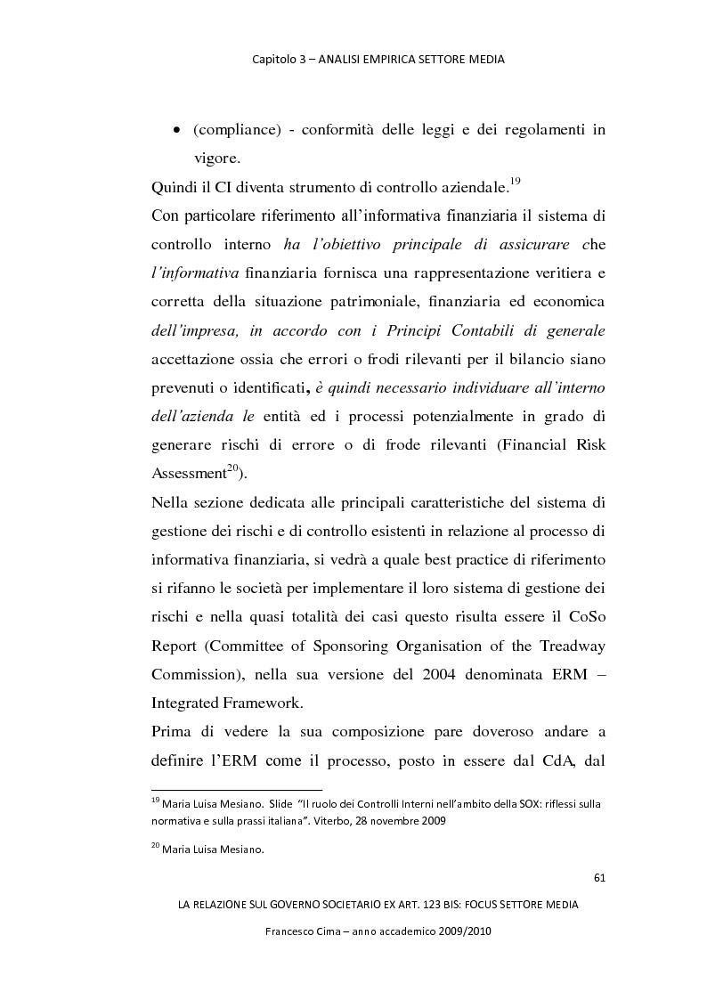 Anteprima della tesi: La relazione sul governo societario ex. art. 123-bis: focus settore media, Pagina 5