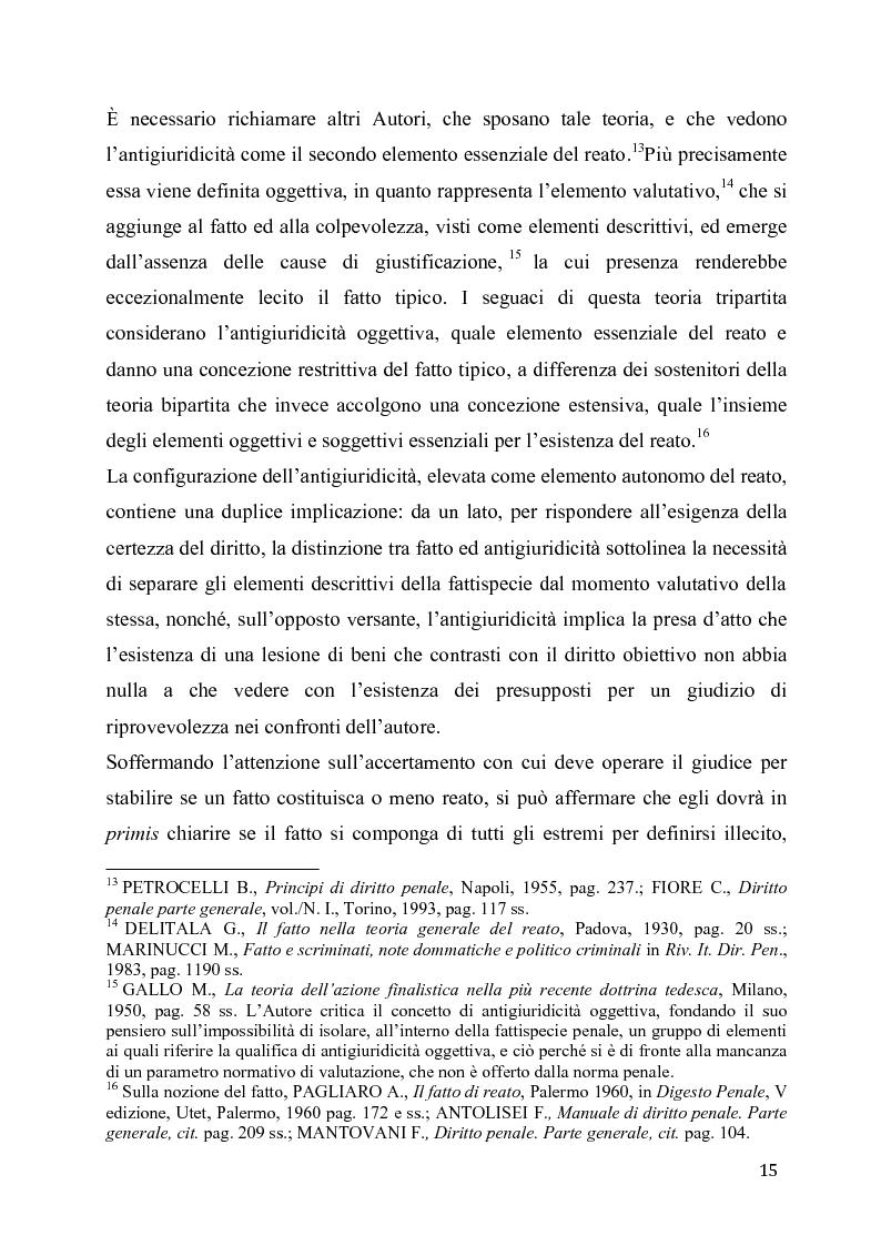 Anteprima della tesi: L'eccesso colposo di legittima difesa, Pagina 11