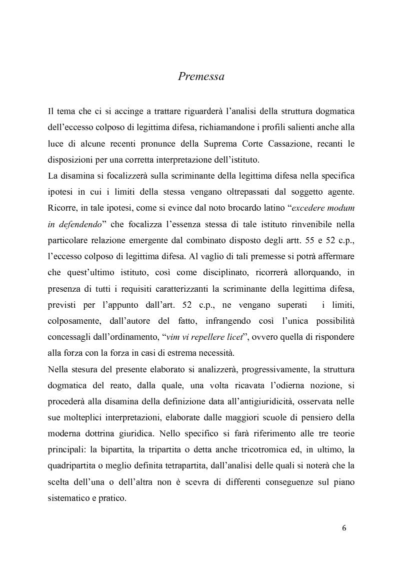 Anteprima della tesi: L'eccesso colposo di legittima difesa, Pagina 2