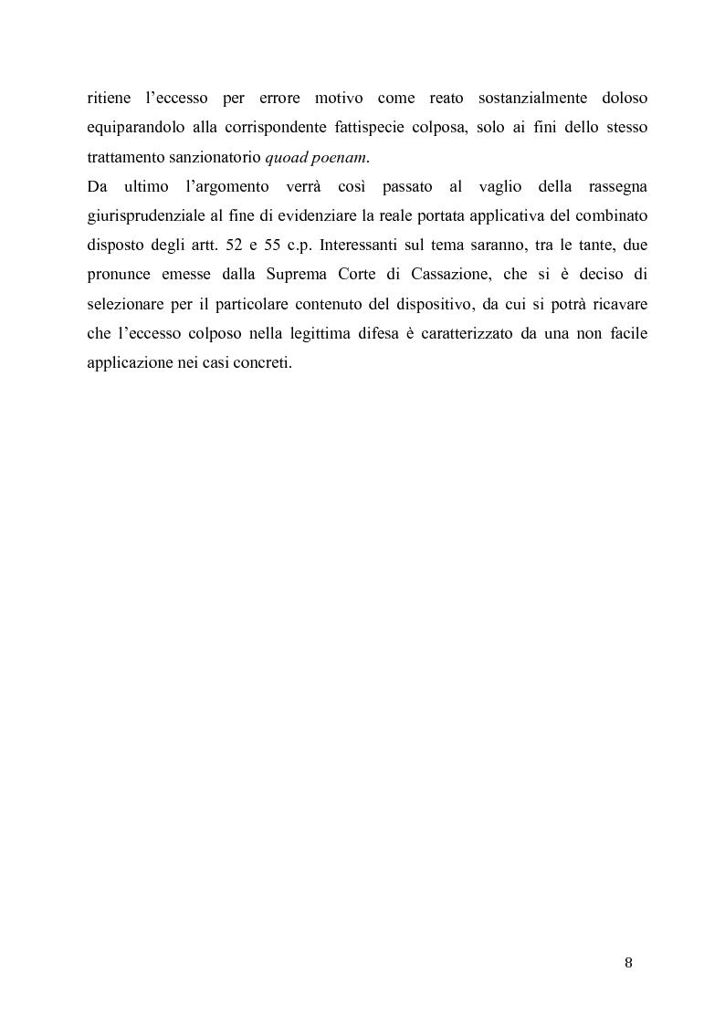 Anteprima della tesi: L'eccesso colposo di legittima difesa, Pagina 4