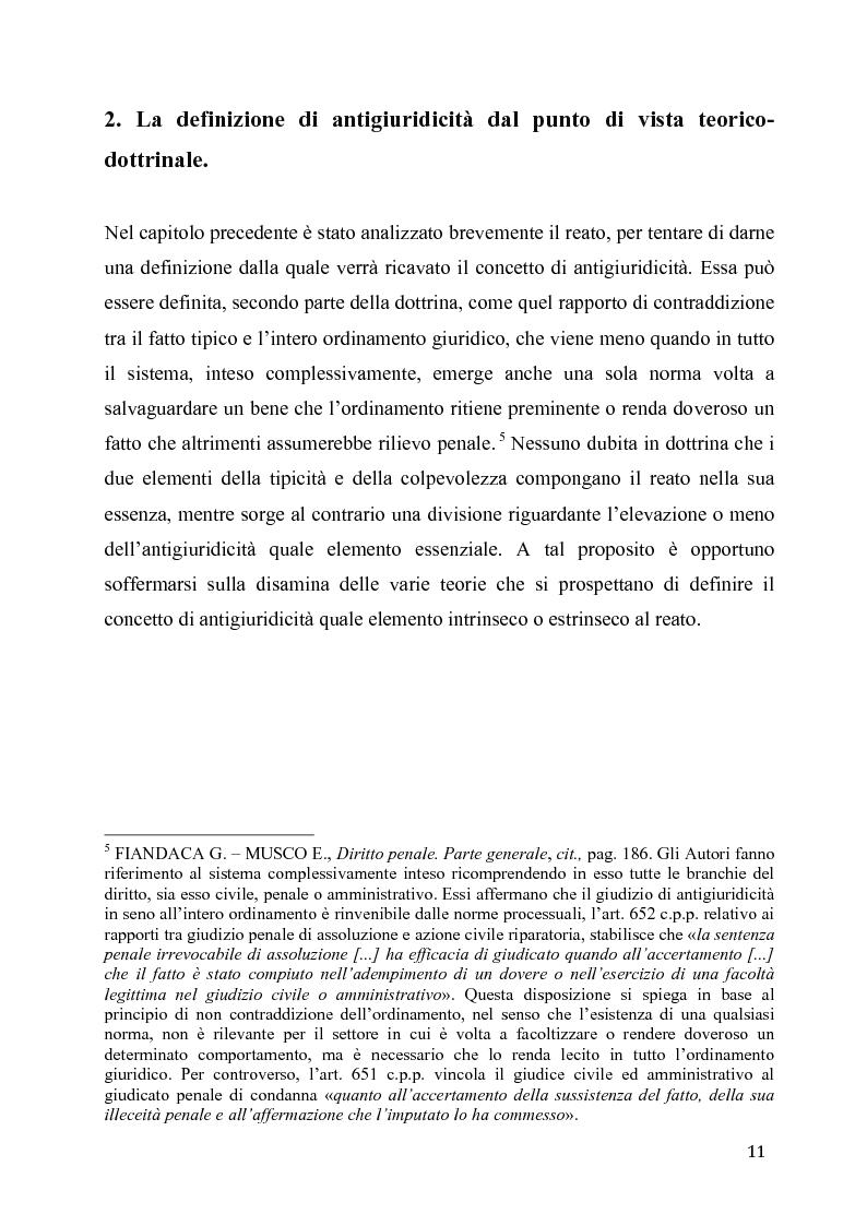 Anteprima della tesi: L'eccesso colposo di legittima difesa, Pagina 7