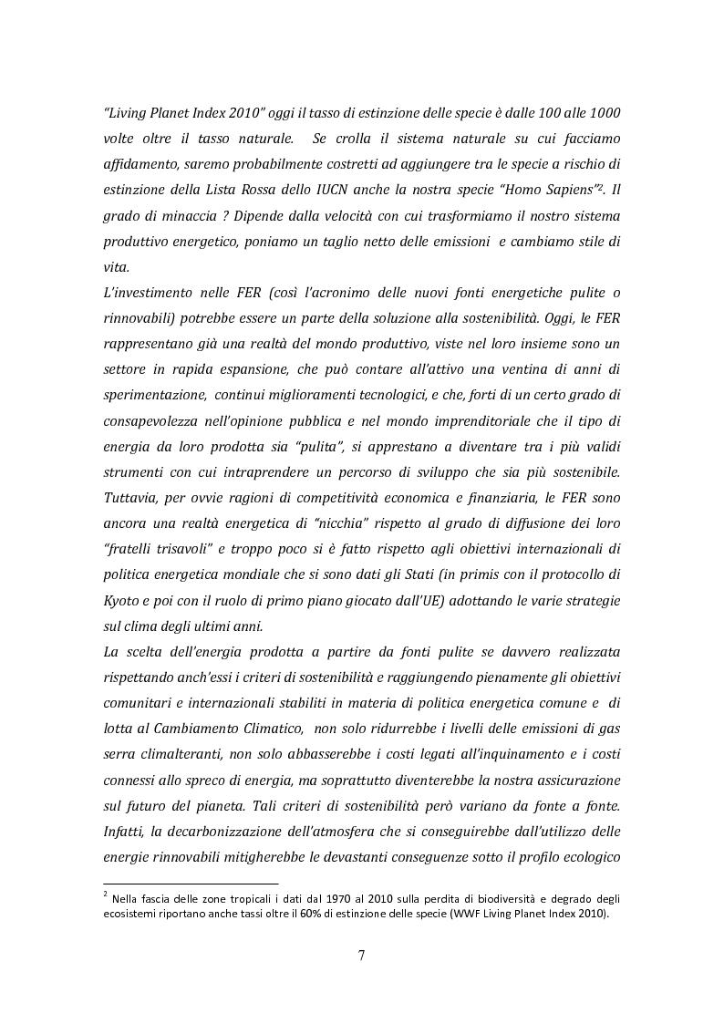 Anteprima della tesi: La biomassa: una FER a rapido sviluppo. Studio della filiera a oli vegetali e sulla sostenibilità ambientale ed energetica dei biocombustibili., Pagina 4