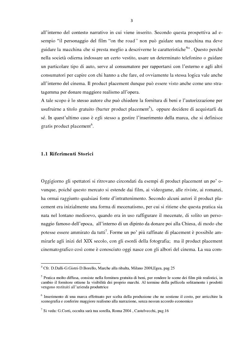 Anteprima della tesi: Il Product placement dalle origini ai giorni nostri, Pagina 10