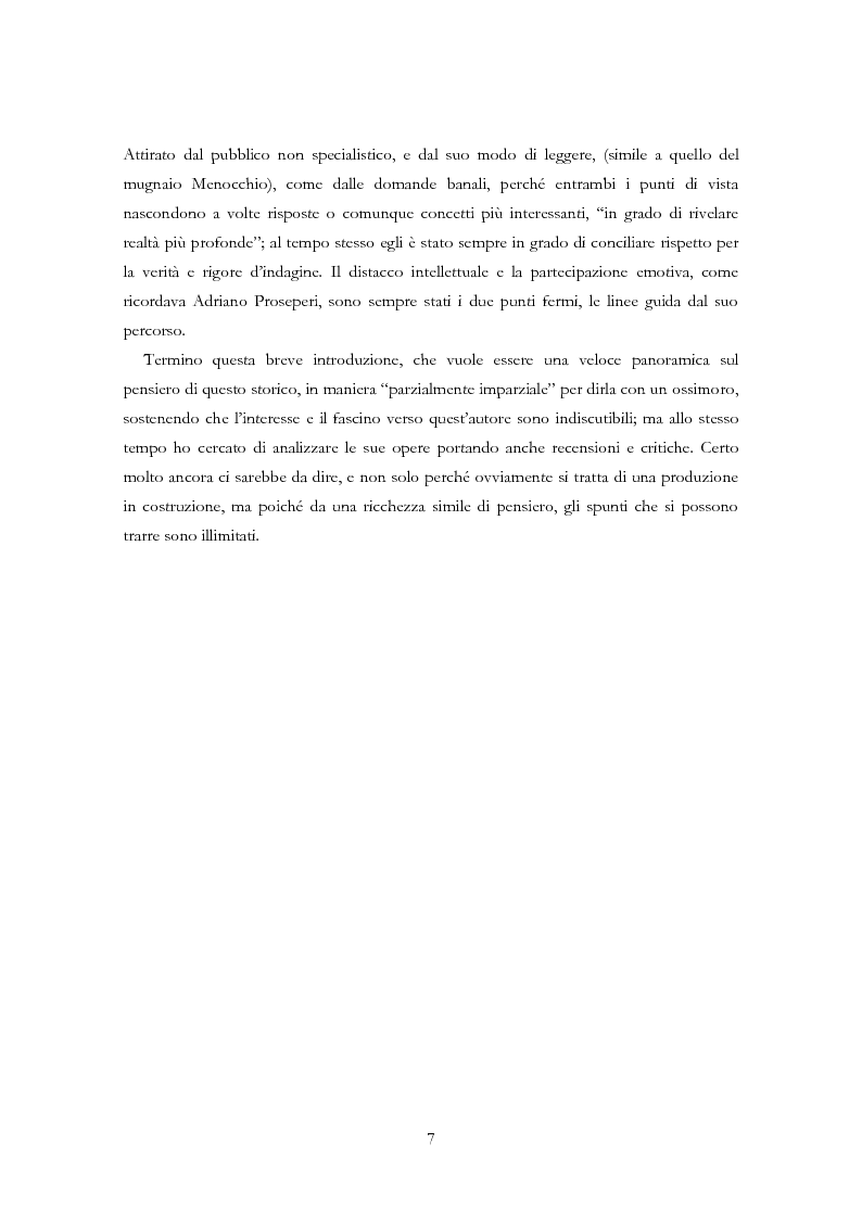 Anteprima della tesi: Carlo Ginzburg: una biografia intellettuale, Pagina 6