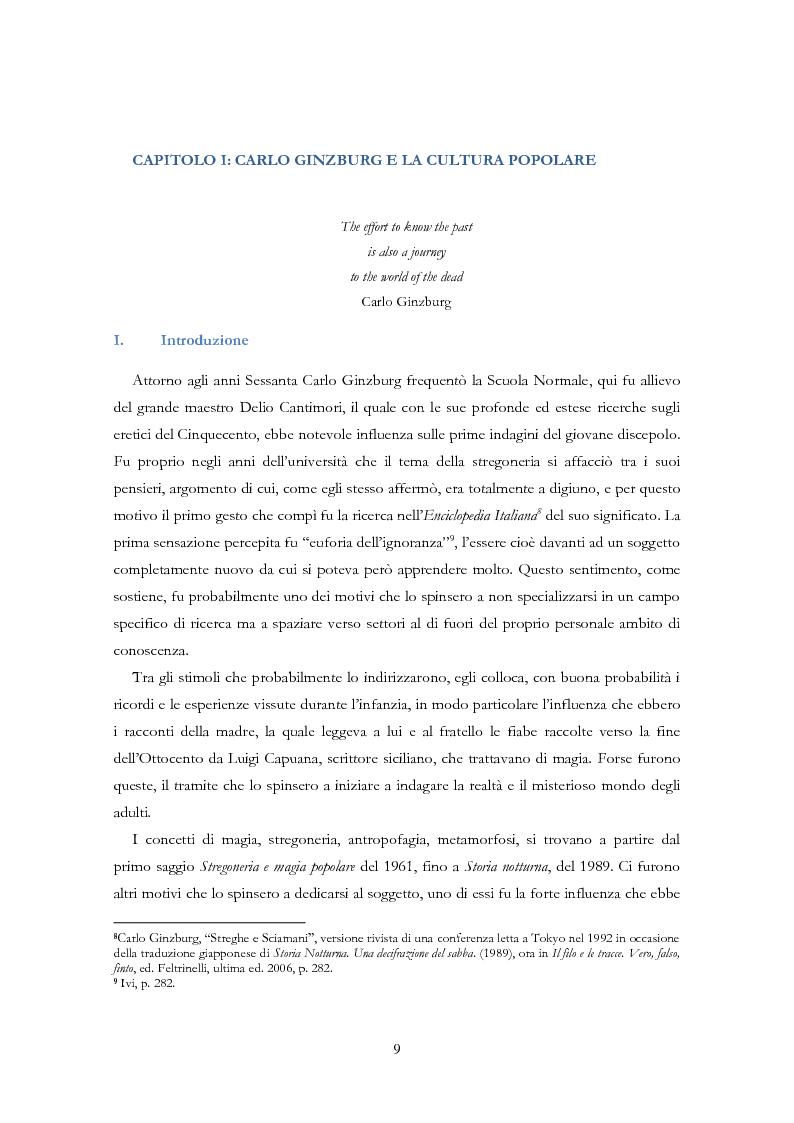 Anteprima della tesi: Carlo Ginzburg: una biografia intellettuale, Pagina 7