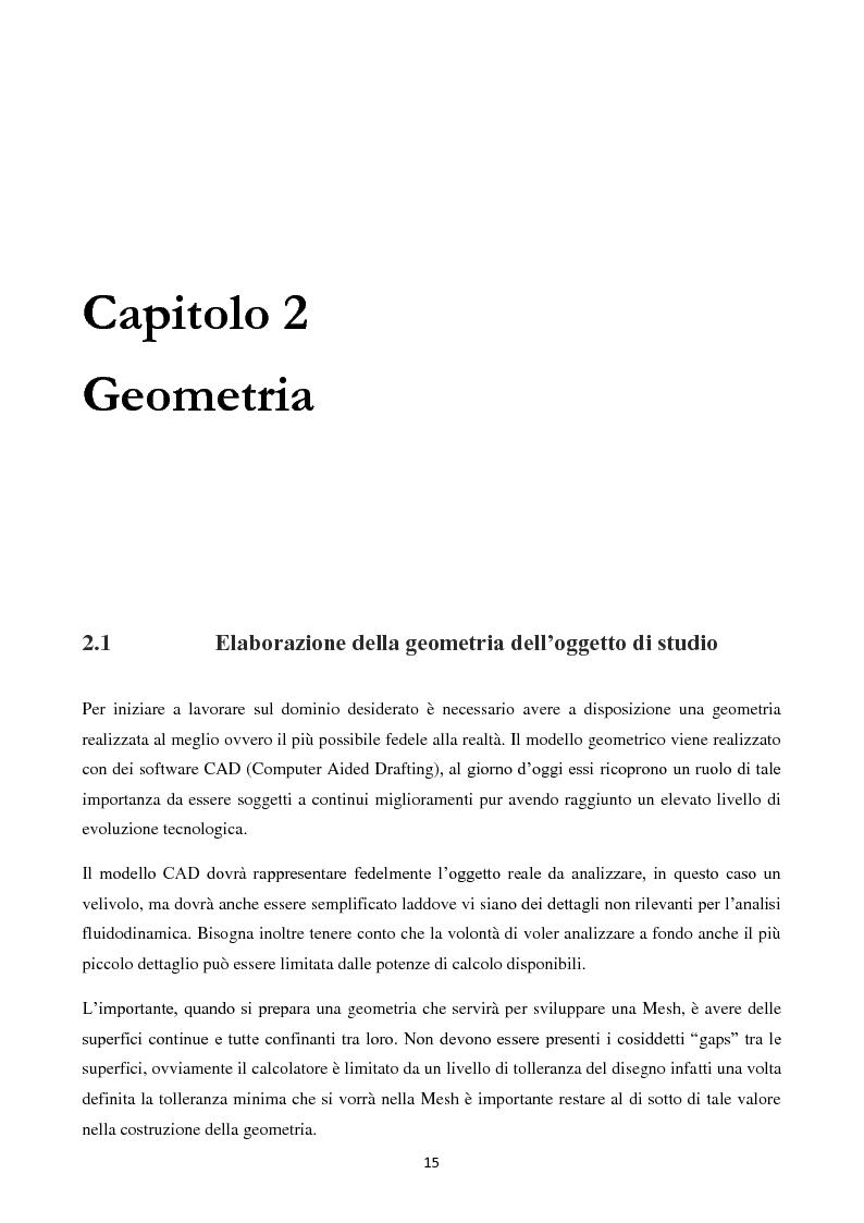 Anteprima della tesi: Caratterizzazione Aerodinamica di un nuovo Velivolo da Aviazione Generale mediante codice CFD, Pagina 2