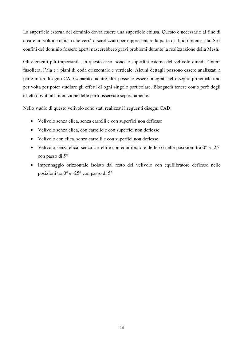 Anteprima della tesi: Caratterizzazione Aerodinamica di un nuovo Velivolo da Aviazione Generale mediante codice CFD, Pagina 3