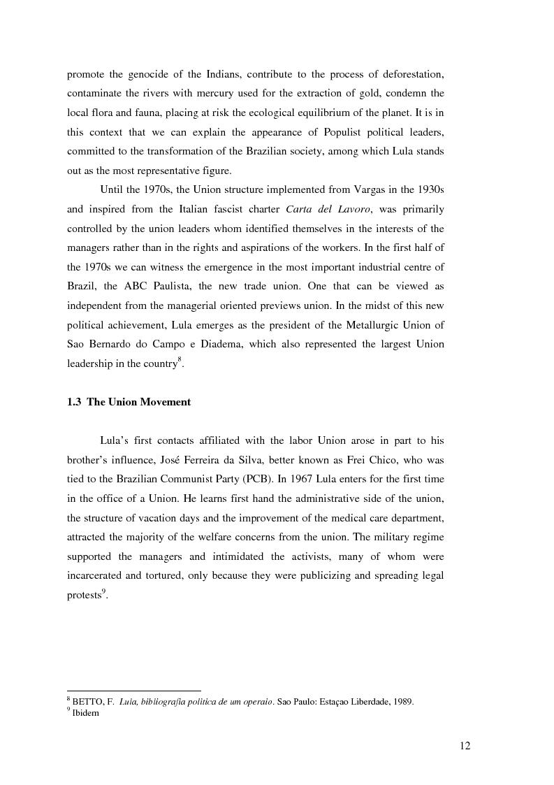 Anteprima della tesi: Lulism: the Evolution of a Political Phenomenon, Pagina 10