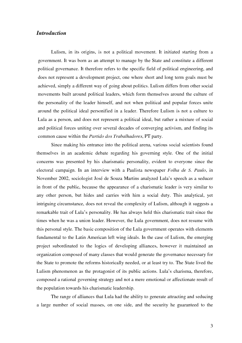 Anteprima della tesi: Lulism: the Evolution of a Political Phenomenon, Pagina 2