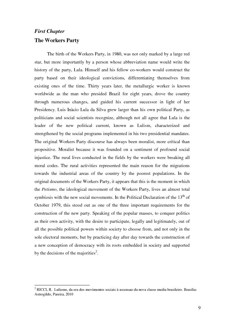 Anteprima della tesi: Lulism: the Evolution of a Political Phenomenon, Pagina 7