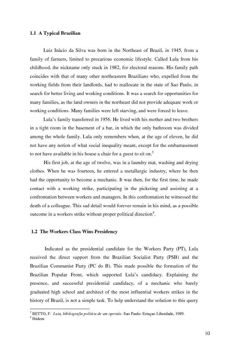 Anteprima della tesi: Lulism: the Evolution of a Political Phenomenon, Pagina 8