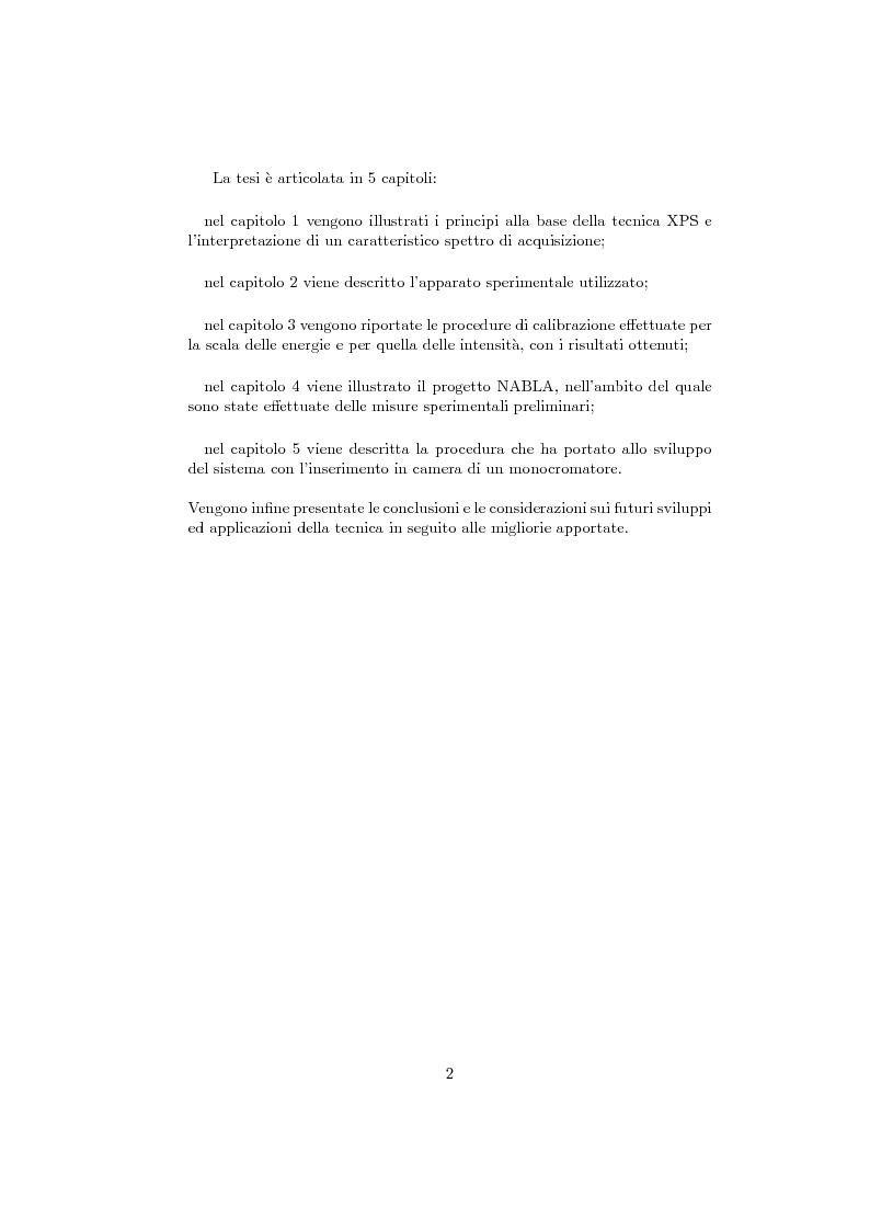 Anteprima della tesi: Sviluppo e calibrazione di un sistema di spettroscopia fotoelettronica (XPS), Pagina 3