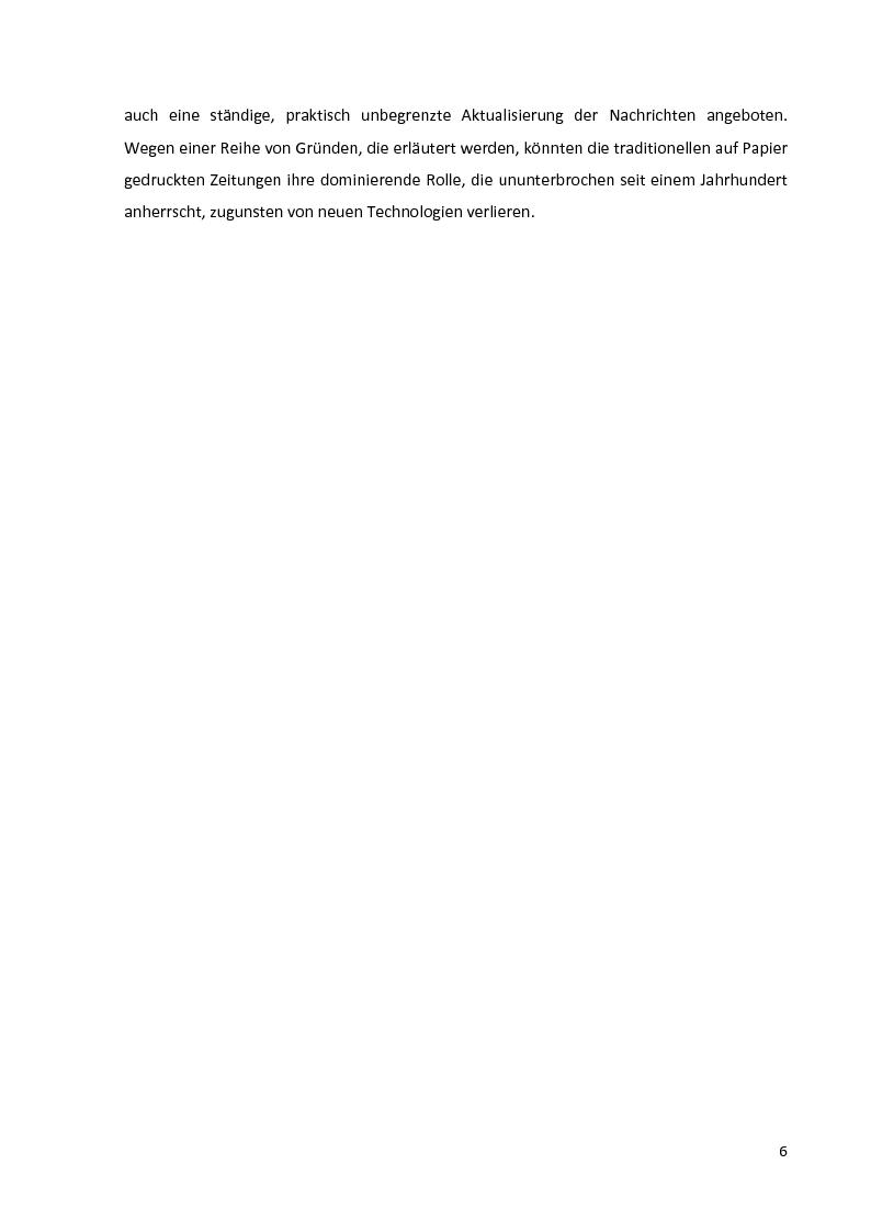 Anteprima della tesi: Journalistische Texte: Genres, Sprache, Neue Medien, Pagina 4