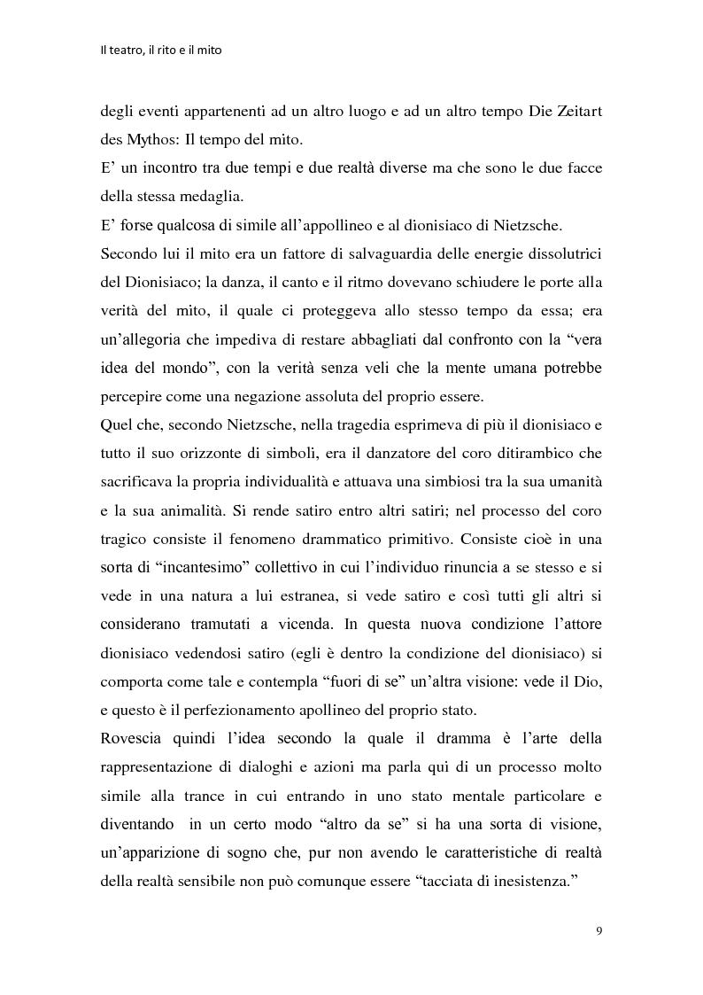 Anteprima della tesi: Rapporti tra teatralità e ritualità con particolare riferimento a Bartabas, Pagina 10