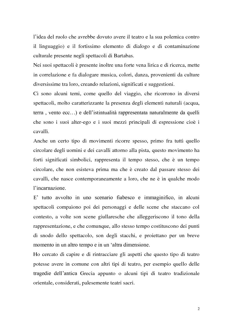 Anteprima della tesi: Rapporti tra teatralità e ritualità con particolare riferimento a Bartabas, Pagina 3