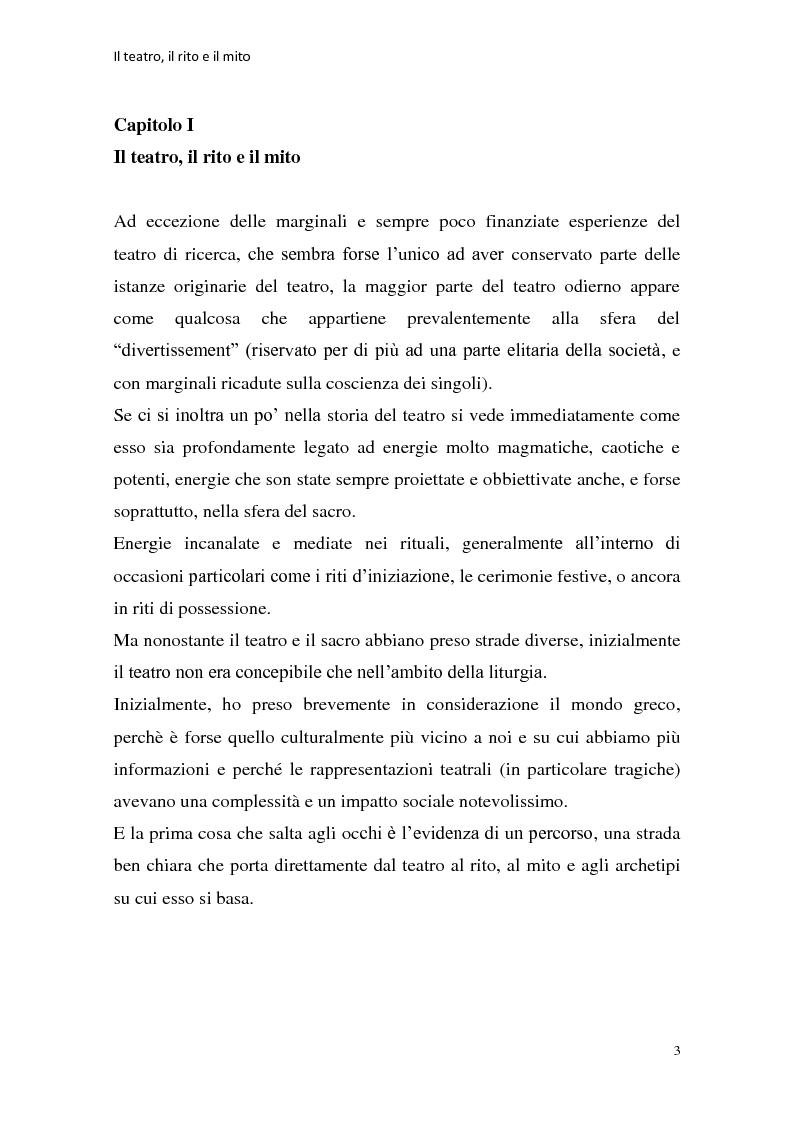 Anteprima della tesi: Rapporti tra teatralità e ritualità con particolare riferimento a Bartabas, Pagina 4