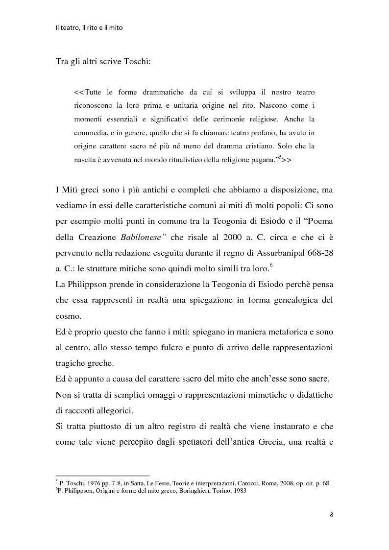 Anteprima della tesi: Rapporti tra teatralità e ritualità con particolare riferimento a Bartabas, Pagina 9