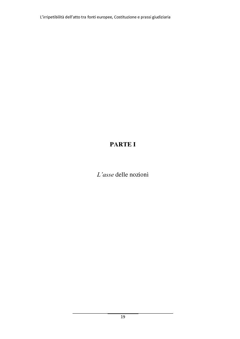 Anteprima della tesi: L'irripetibilità dell'atto tra fonti europee, Costituzione e prassi giudiziaria, Pagina 11