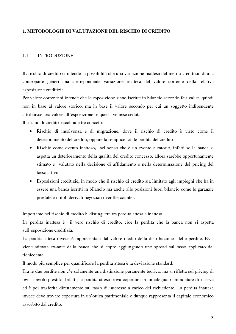 Anteprima della tesi: La valutazione del merito di credito delle PMI. Il caso della Bcc del Garda, Pagina 4
