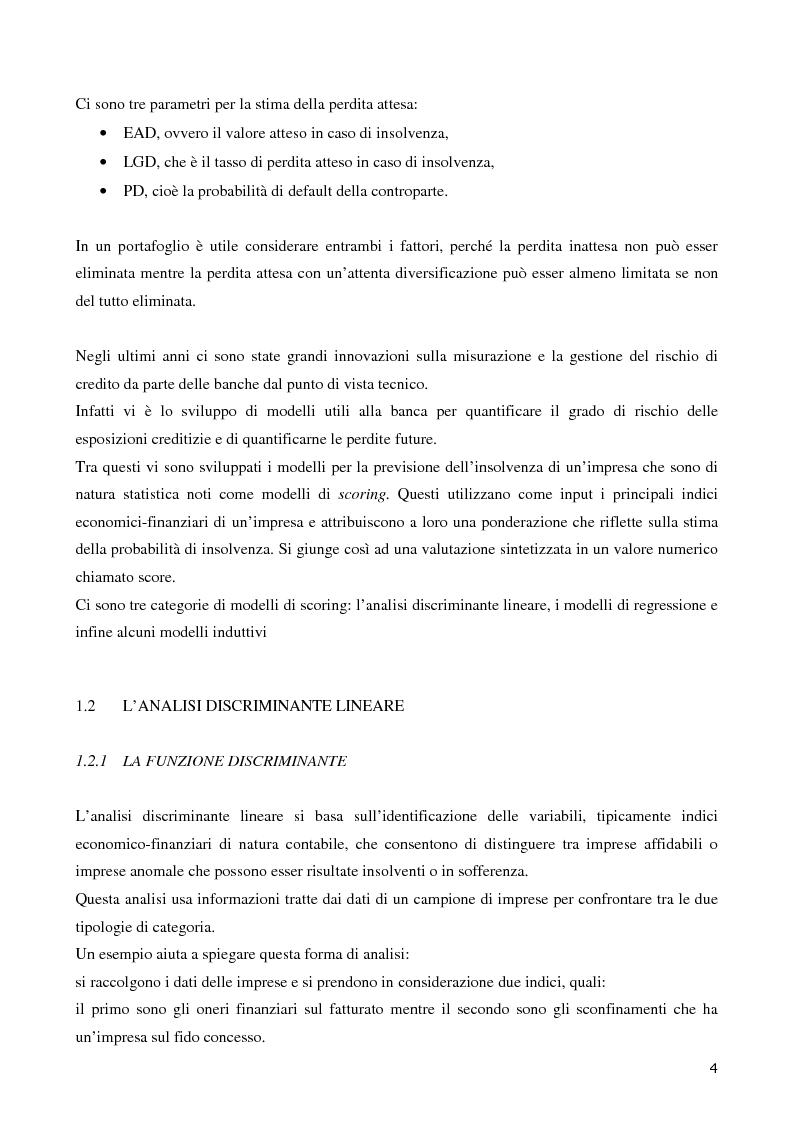 Anteprima della tesi: La valutazione del merito di credito delle PMI. Il caso della Bcc del Garda, Pagina 5