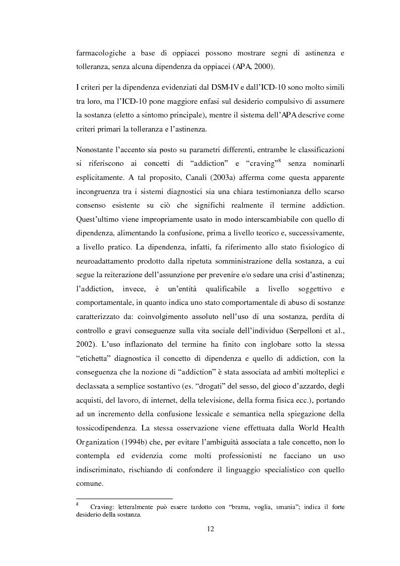 Anteprima della tesi: Uscire dal tunnel: il percorso terapeutico delle comunità per tossicodipendenti, Pagina 10