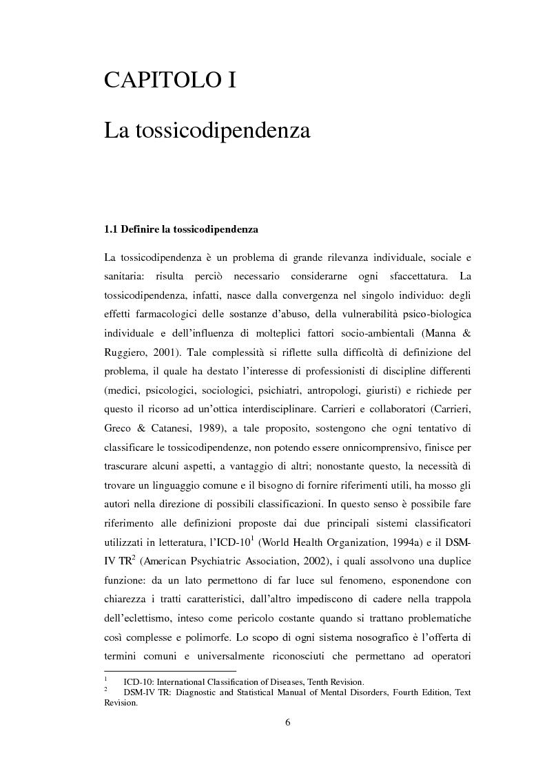Anteprima della tesi: Uscire dal tunnel: il percorso terapeutico delle comunità per tossicodipendenti, Pagina 4