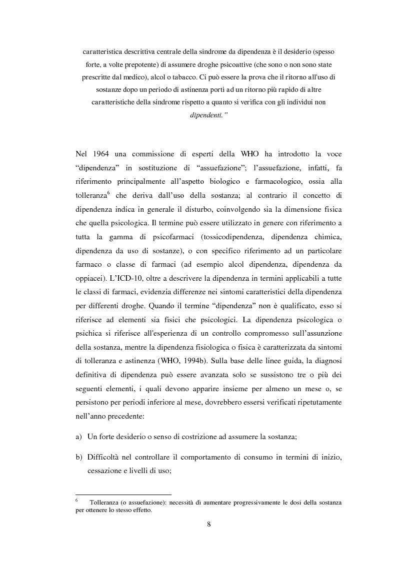 Anteprima della tesi: Uscire dal tunnel: il percorso terapeutico delle comunità per tossicodipendenti, Pagina 6