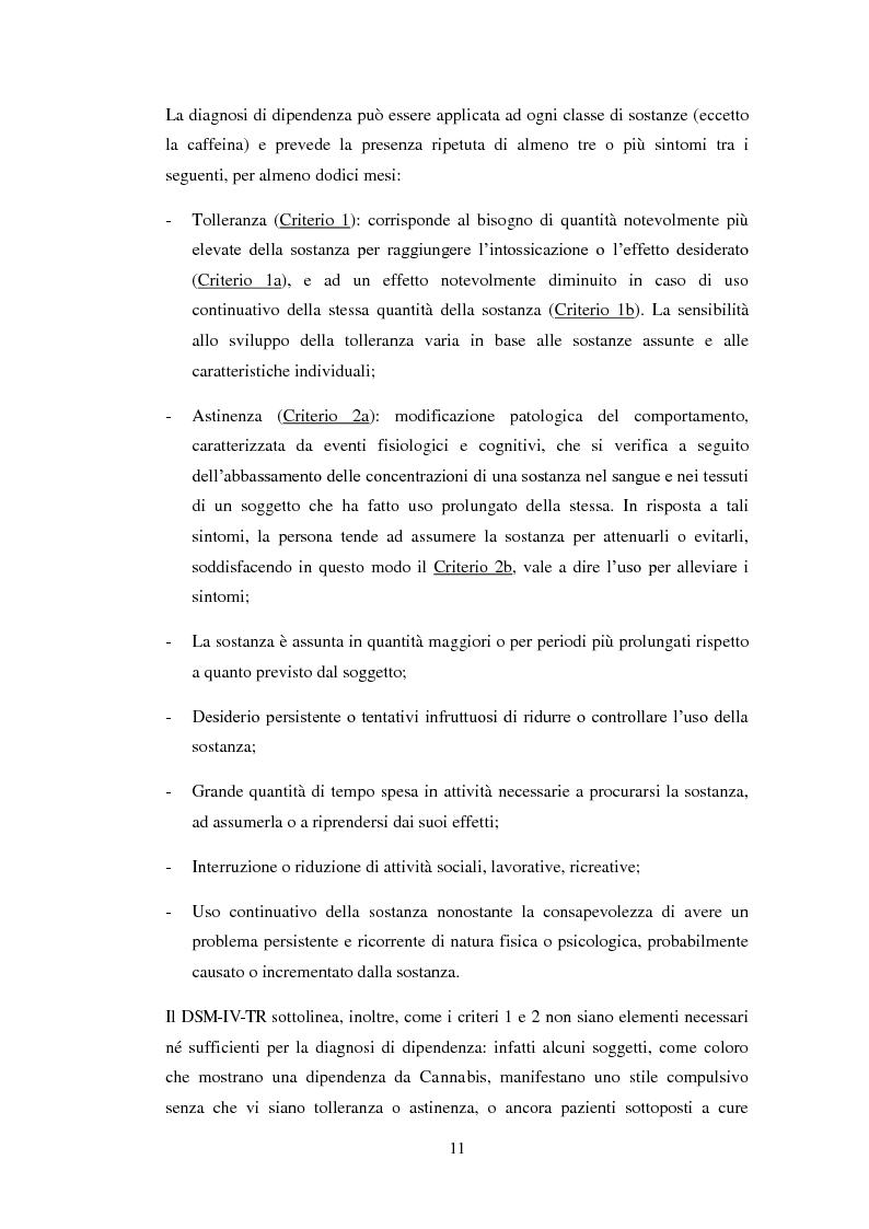 Anteprima della tesi: Uscire dal tunnel: il percorso terapeutico delle comunità per tossicodipendenti, Pagina 9