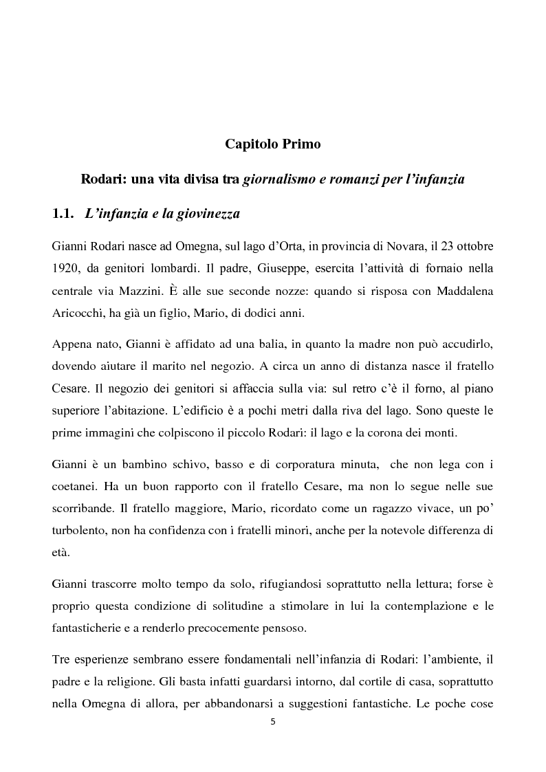 Anteprima della tesi: La scuola della fantasia. I bambini e le bambine di Gianni Rodari, Pagina 2