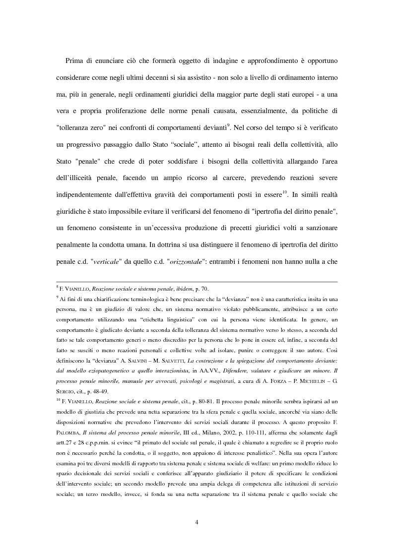 Anteprima della tesi: La clausola di irrilevanza del fatto nel processo penale minorile, Pagina 8