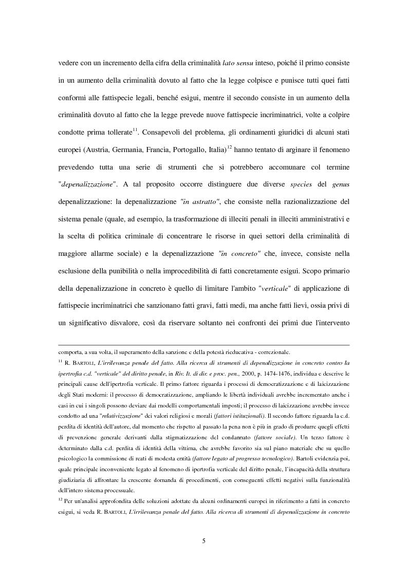 Anteprima della tesi: La clausola di irrilevanza del fatto nel processo penale minorile, Pagina 9