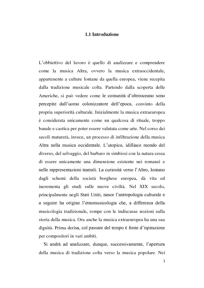 Anteprima della tesi: L'Altro in Musica, contaminazioni e influenze nella musica occidentale dal Novecento ad oggi, Pagina 2