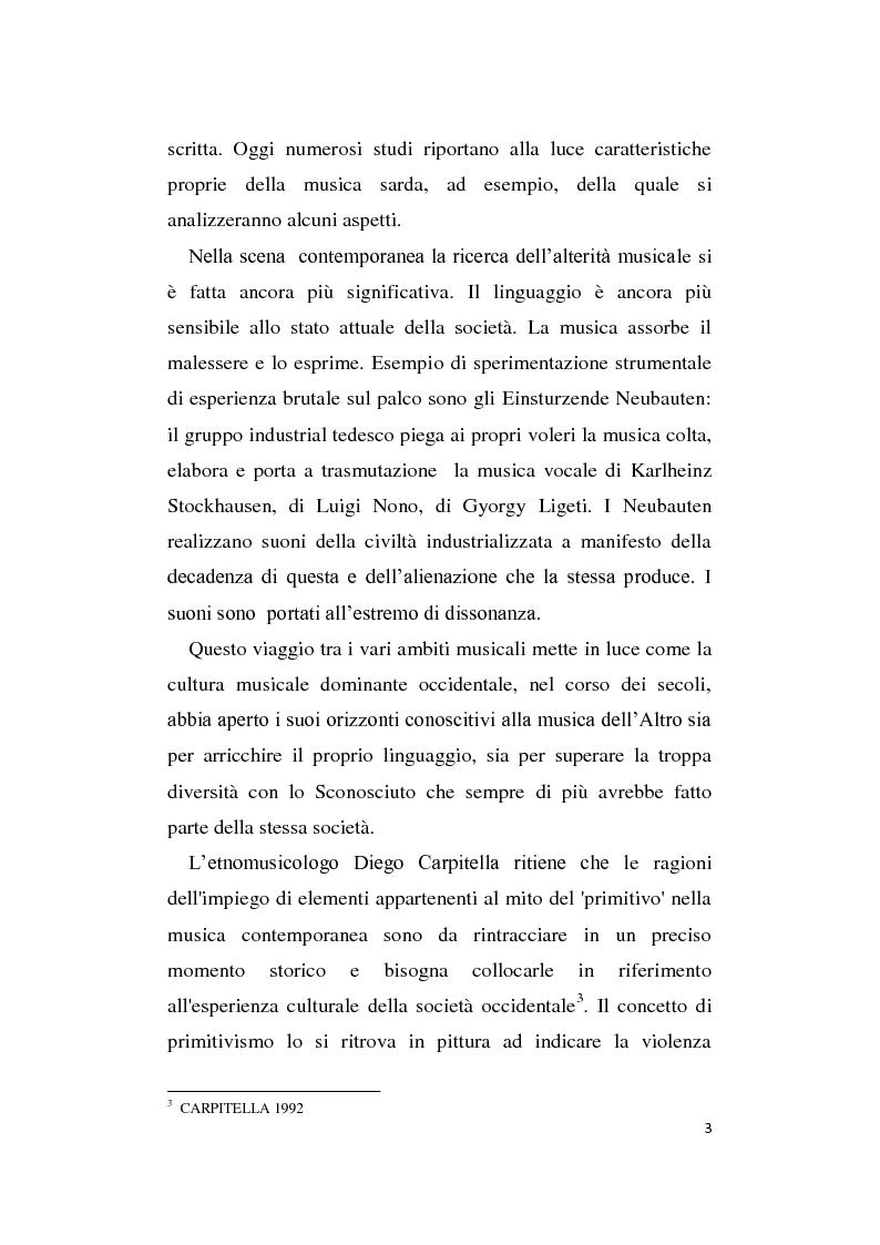 Anteprima della tesi: L'Altro in Musica, contaminazioni e influenze nella musica occidentale dal Novecento ad oggi, Pagina 4